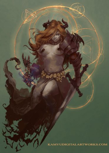 Fantasy woman demon