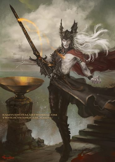 Elric of Melnibone with stormbringer fanart